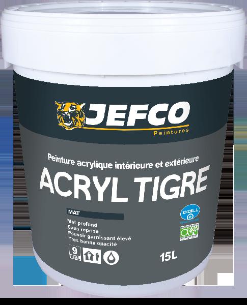 Peinture acrylique mat profond ACRYL TIGRE blanc bidon 4L