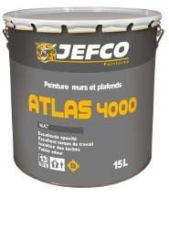 Peinture murs et plafonds ATLAS 4000 mat blanc 4L