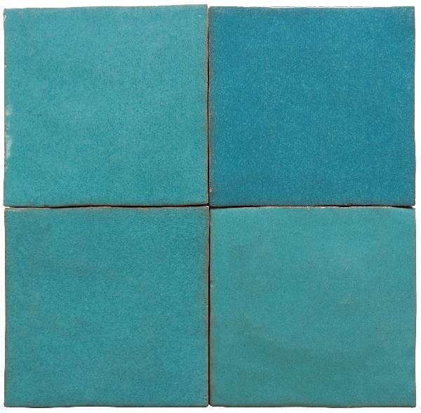 Faïence ZELIJ azul cielo brillant 10x10cm Ep.10mm