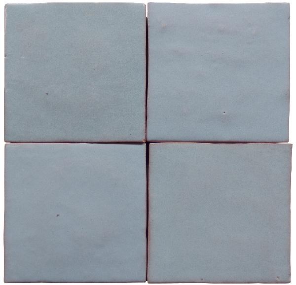 Faïence ZELIJ gris claro brillant 10x10cm Ep.10mm