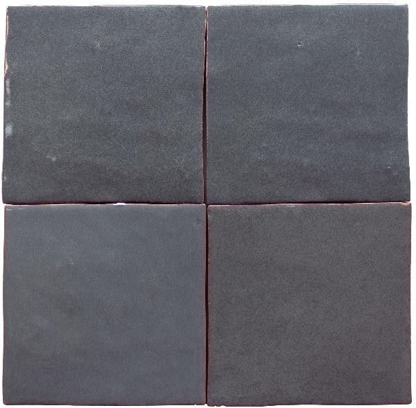 Faïence ZELIJ gris oscuro brillant 10x10cm Ep.10mm