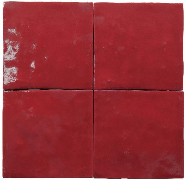 Faïence ZELIJ SPECIAL rojo antiguo brillant 10x10cm Ep.10mm