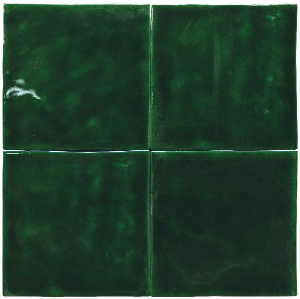 Faïence ZELIJ SPECIAL verde cobre brillant 10x10cm Ep.10mm