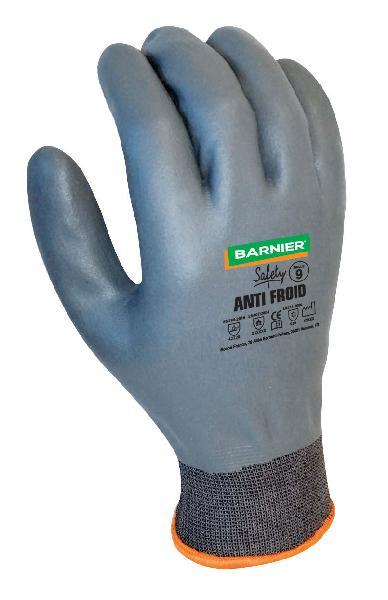 Gant anti-froid nylon/lycra enduit nitrile gris T.10