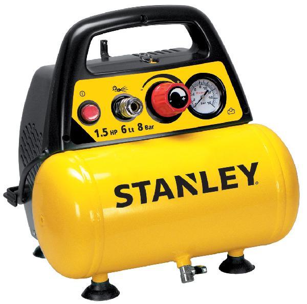 Compresseur STANLEY 1,5P COAXIAL 8bar 6L +tuyau+souflette