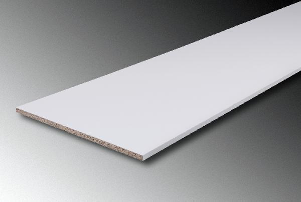 Tablette particules mélaminés 4 chants plaqués D2267 VL 18x1200x400mm