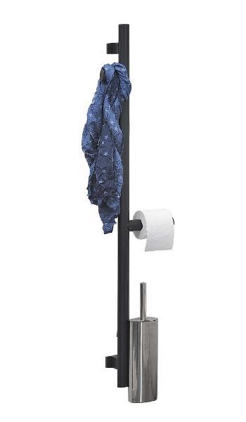 Barre appui et maintien pour WC ARSIS 122,6x25,7 gris anthracite