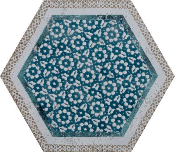 Carrelage décor FUORITONO fuorimaiolica satiné 24x27,7cm Ep.10,5mm