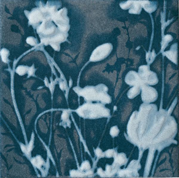 Carrelage décor MATERIA PRIMA natural blue poli 20x20cm Ep.10mm