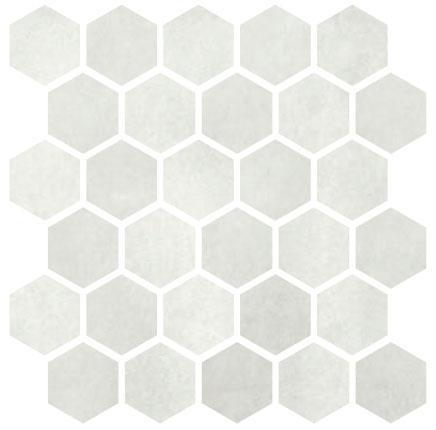 Carrelage mosaïque MATERIA PRIMA cloud white poli 25x25cm Ep.10mm