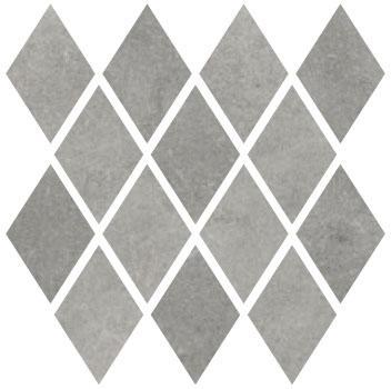 Carrelage mosaïque MATERIA PRIMA metropolita grey poli 27x27cm Ep.10mm