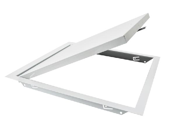Trappe visite métallique prépeinte blanche batteuse à vis 500x500mm