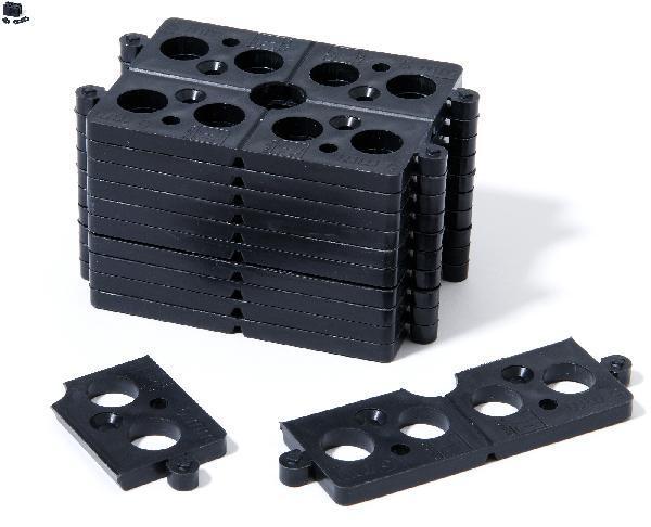 Cale millimétrée plate sécable Ep.5mm noir sachet(s) 40