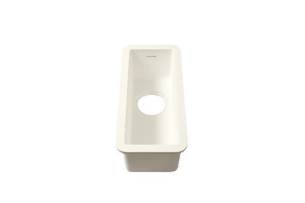 Evier GETACORE GCMK150 dolomiti white GC2012 140x400x150mm