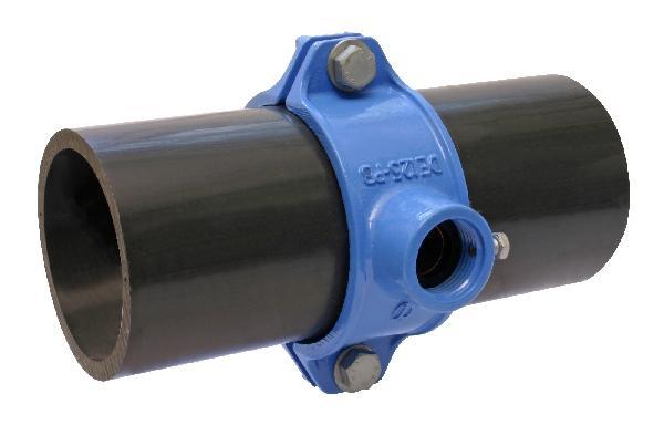 Collier de prise Ø400 55/3 GB pour tuyau PE-PVC ref:930