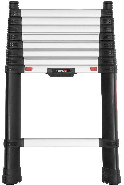 Echelle + pieds de sécurité télescopique PRIME 80mm 3m H.380cm