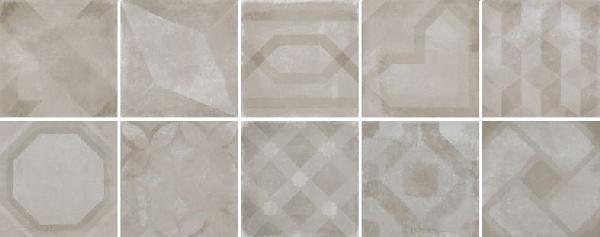 Faïence décor VINTAGE mix cemento 20x20cm