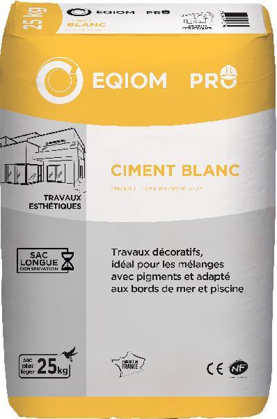 Ciment blanc CEM II/B-LL CP2-SB 32,5 R CE+NF sac 25kg