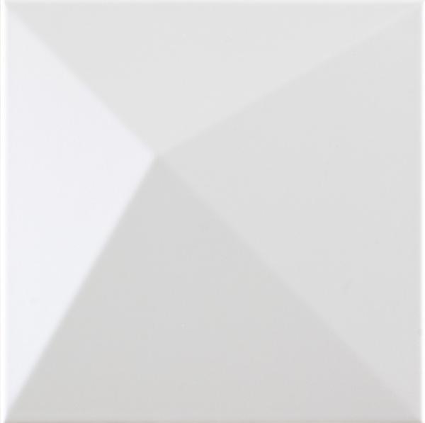 Faïence décor SHAPES kioto white 25x25cm Ep.9mm