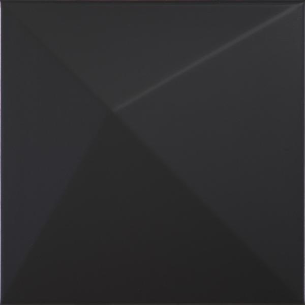 Faïence décor SHAPES kioto black 25x25cm Ep.9mm