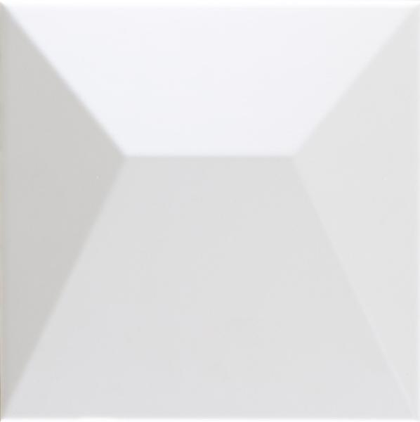 Faïence décor SHAPES japan white 25x25cm Ep.9mm