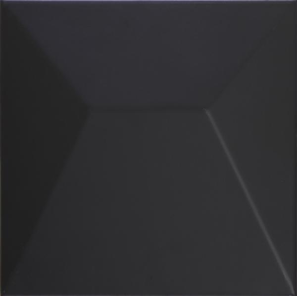 Faïence décor SHAPES japan black 25x25cm Ep.9mm