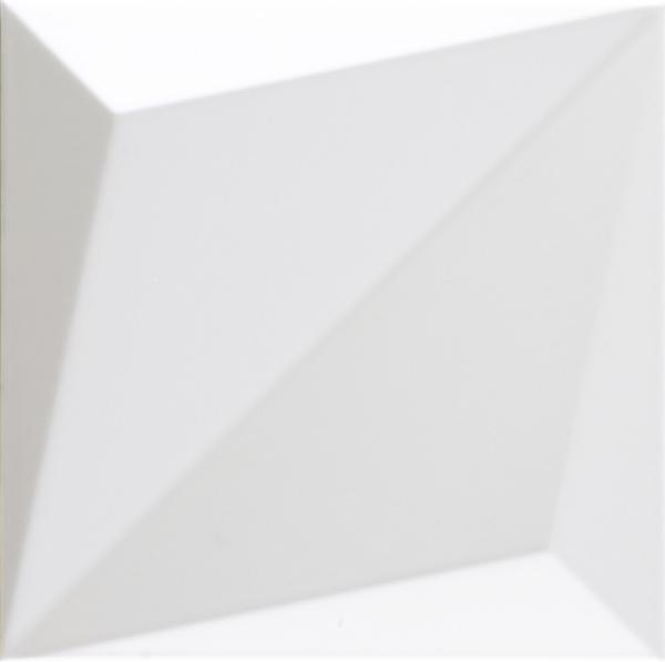 Faïence décor SHAPES origami white 25x25cm Ep.9mm