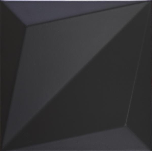 Faïence décor SHAPES origami black 25x25cm Ep.9mm