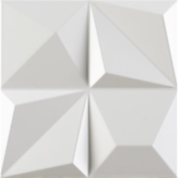 Faïence décor SHAPES multishapes white 25x25cm Ep.9mm