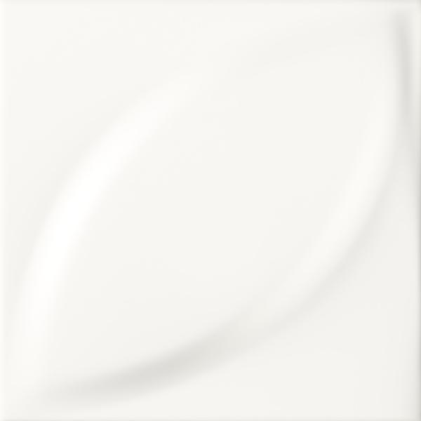 Faïence décor SHAPES mandorla white 25x25cm Ep.9mm
