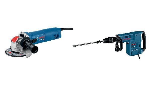 Perforateur GSH 11 E + meuleuse GWX 10-125 kit 2 machines