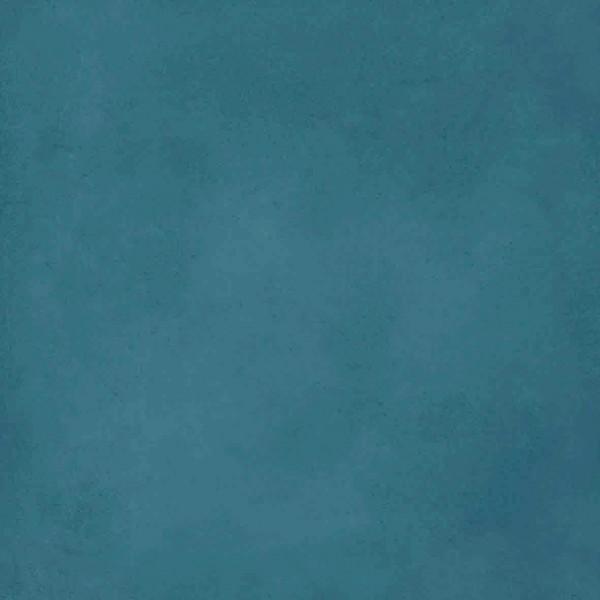 Carreau ciment UNI bleu pétrole 20x20cm EP.16mm