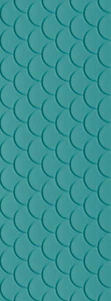 Faïence décor GENESIS shell marine blue mat 35x100cm Ep.10mm