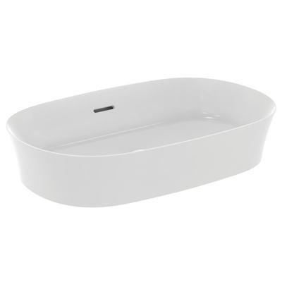 Vasque IPALYSS soie blanche mat 38x60x12cm P.9,5cm à poser