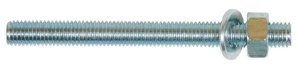 Tige filetée INDIFIX M10 160mm + écrou + rondelle sachet(s) 4