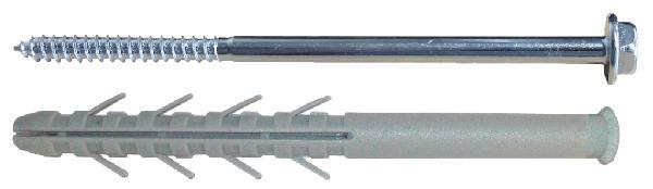 Chevilles INDIFIX longues Ø10x80mm + tirefond sachet  10