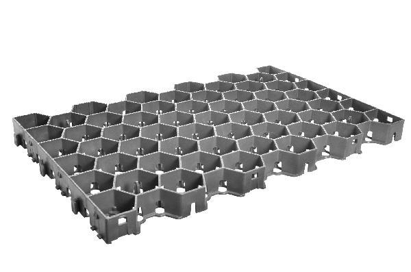 Plaque de stabilisation URBAN GRAVEL 59,1x37,8cm Ep.4cm grise