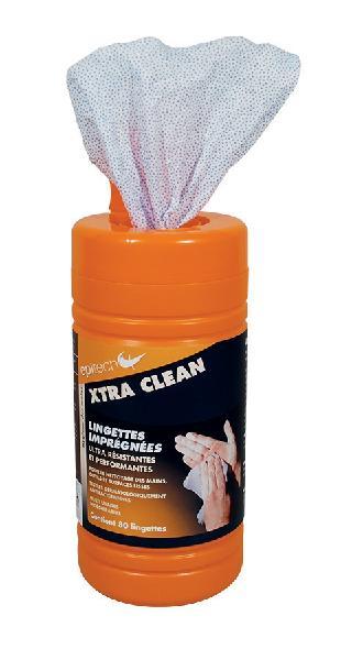 Lingettes nettoyantes jetables virucide XTRA CLEAN tube 80 pièces