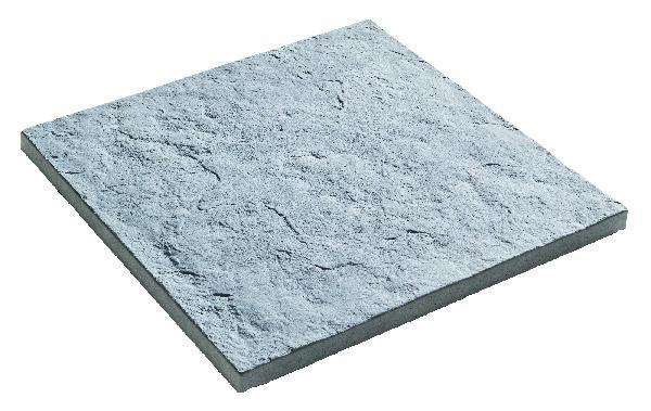 Dalle PIERRE DU LOT structurée 50x50cm Ep.25mm gris nuancé