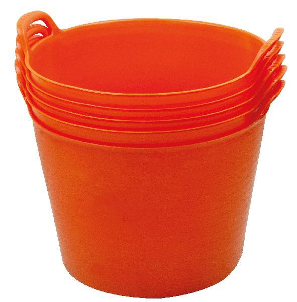 Auge cabas plastique orange 45x45cm 34 40L de chantier
