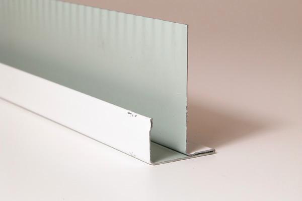 Profil F MF8W pour panneau 13mm blanc 3,20m