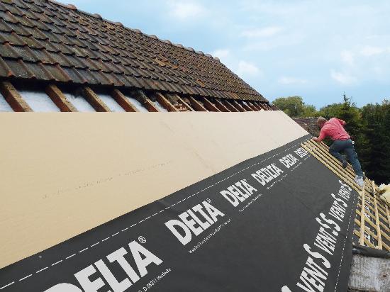 Ecran de sous toiture pour toiture pente DELTA VENT S HPV R2 50x1,50m