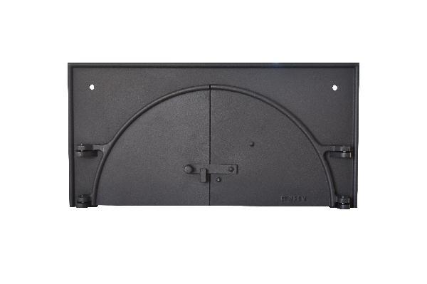 Porte en fonte double battant pour four à bois 30x60cm
