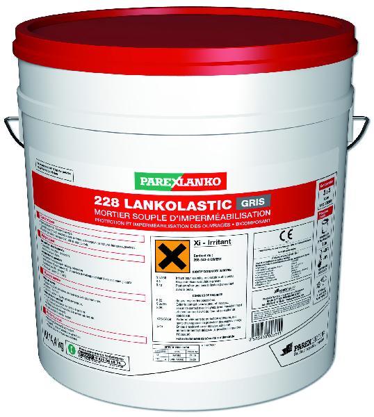 Mortier souple imperméabilisation 228 LANKOLASTIC gris kit 14,4kg