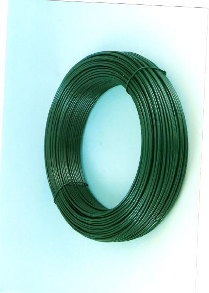 Fil de tension plastifié Ø fil3,1mm vert bobine 100m
