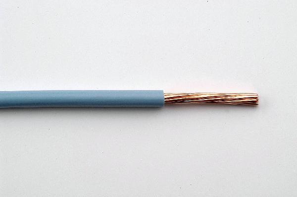 Fil rigide HO7V-U 6mm² bleu bobinot 10m