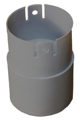 Bouchon PVC BCE pour gaine LST Ø24x28mm