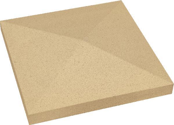 Chapeau pilier pointe diamant 40x40x4cm ton pierre
