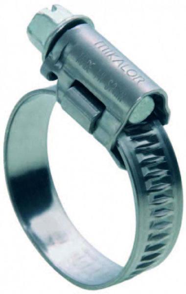Collier à bande pleine inox AISI304 16x25 sachet 4