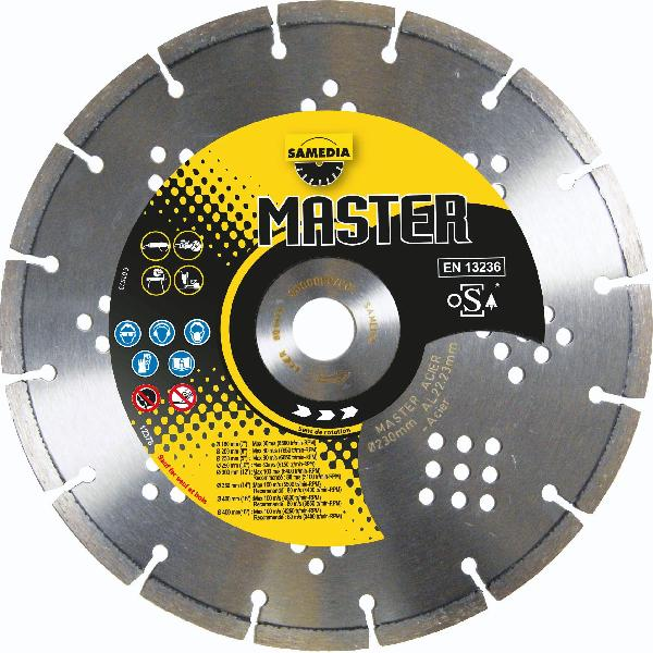 Disque diamant Ø230mm MASTER acier